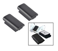 2 x Xbox 360 Wireless Controller AA Battery Pack Back Cover Case Holder (Black)