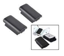 2 X Xbox 360 Manette Sans-Fil Aa Lot de Batteries COQUE Arrière Support (Noir)