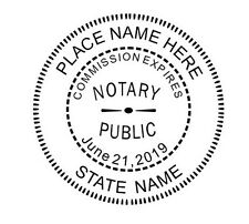 Custom Round Official Notary Self Inking Rubber Stamp office use - IDEAL 400R