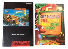 RARE! Donkey Kong Country 3 SUPER NINTENDO SNES INSTRUCTION MANUAL + Insert