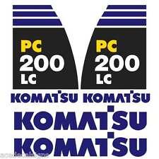 Komatsu PC200-8LC Decals Stickers New Repro Decal Kit