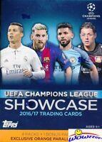 2017 Topps UEFA Champions League Showcase EXCLUSIVE Blaster Box-ORANGE PARALLELS