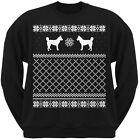 Siberian Husky Black Adult Ugly Christmas Sweater Crew Neck Sweatshirt