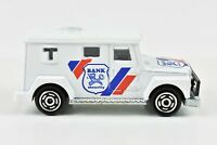 Majorette Bank Security Armored Truck White 1:57 Scale #204 Made in France