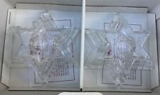 Beautiful Votive WMF Starlight Crystal Candlestick Holders  NEW / Germany