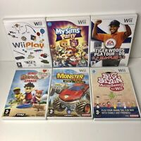 Bundle Of 6 Nintendo Wii Games - Including Wii Play, Big Beach Sports, My Sims
