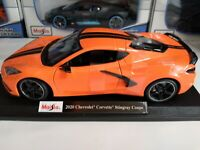 Maisto 1:18 Scale Diecast Model Car - 2020 Chevrolet Corvette Stingray C8 Coupe