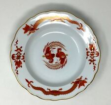 """Antique Rare Meissen Opulent Court Red Dragon Soup Bowl Plate 9 1/2"""" Circa 1924"""