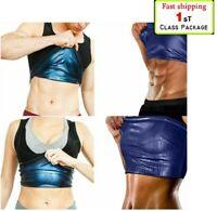 Women Men Sweat Shaper Slimming Polymer Sauna Vest Tank Top Shapewear Weightloss