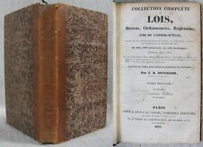 Tome Premier de 1788 à 1790 de la Collection Complète des LOIS / Édition de 1834