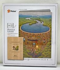 Pintoo Bibliodame Jacek Yerka Puzzle Cover - 329 Pieces A5 Size New Sealed