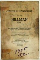 1955 Hillman Husky Owners Handbook Manual