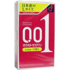 OKAMOTO 001  Authentic Japanese product 0.01 mm Condoms LARGE Size (3 pieces)