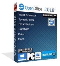 2018 Open Office Pro palabra hojas de cálculo para Microsoft Windows y Mac (descarga)
