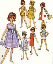 Vintage Doll Clothes PATTERN 5446 for 12 in Tammy Jan Terry  by Ideal 1960s