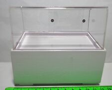 1:12 Empty Acetate & Wood Counter Display Dolls House Miniature White Accessory