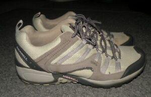 Merrell Womens Tuskora Pewter/Peppermint Gray Waterproof Hiking/Trail Shoes 9.5