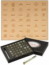 Craftool Native American Symbol Stamp Set 43 Stamps Tandy Leather 8160-00