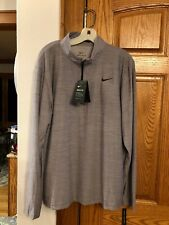 New Nike Dry Fit Standard Fit Quarter-Zip Pullover Light Heather Gray L Nwt