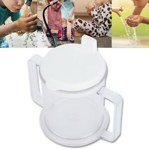 Protable Double Handle Drinking Cup Sippy Beaker No Spill For Kids Elderly ML