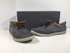 Ecco Collins Men's Size 7-7.5 Titanium Leather Casual Shoes X1-2114
