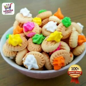 100Pcs IcedGem Biscuits - Kids FunTime Colorful Toddler Favorite Tiny Cookies
