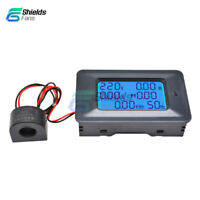 100A 110-250V Current 6in1 Digital LCD Panel Power Monitor Ammeter Voltmeter
