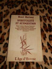 SPIRITUALITE ET AUTOGESTION - Henri Hartung - Age d'Homme, 1978
