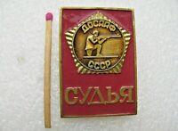 Vintage Soviet Badge Sign USSR Shooting Judge Pin USSR