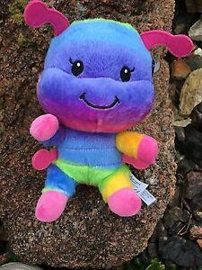 "Build a Bear 8"" Mini Rainbow Wiggles Caterpillar Plush Toy - New"