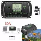 PWM LCD Solar Panel Battery Controller Charge Regulator 12V 24V Auto With USB_✿Z