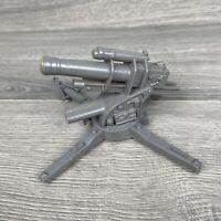 VINTAGE MARX BATTLEGROUND SILVER FIELD GUN CANON