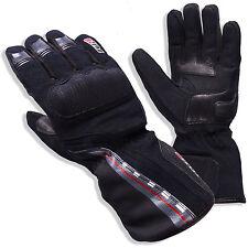 Tuzo 1038 Waterproof Warm Winter Textile Motorcycle Glove Black