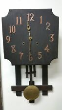 Antique Wood Wall Clock by National Clock & Mfg. Company