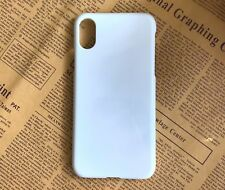 10pcs/lot 3D Heat Transfer Sublimation Blank White phone Case Cover For iphone X