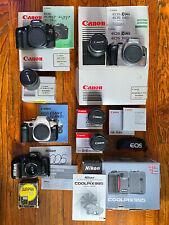 Canon & Nikon Film & Digital Camera Lot W/ Lenses & Accessories in Original pkg