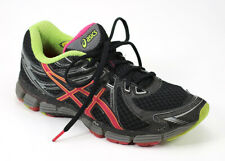 Asics GT-2000 Womens Size 7 Running Shoes Sneakers Black Red Yellow Gray T2N6N