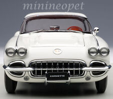 AUTOart 71147 1958 CHEVROLET CORVETTE 1/18 DIECAST MODEL CAR WHITE