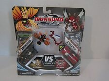 Monsuno New Cards & Figures Pop Out Action Toy Airchopper vs Stingapede #36 # 38