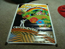 """funky 60's-70's CONTINENTAL HOMES POSTER  signed WILLIAM BULLOCK 28 x 44"""""""