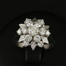 Vintage brillante anillo 1,50 CT. grabado ()