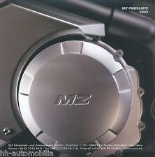 MZ Preisliste 2003  price list RT 125 Mastiff Bagheera 1000 S ATV 50 100 Moskito