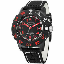 Zeno Men's 6709-515Q-A17 Divers Black Dial Black/Red Fabric Strap Quartz Watch