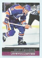 WAYNE GRETZKY 1999/00 UPPER DECK UD EXCLUSIVES # 134 OILERS /100