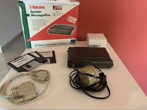 90s Analogic Modem - US Robotics Sportster MessagePlus 56K (+Box,Cable,Floppies)