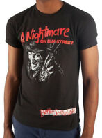 New Licensed A Nightmare on Elm Street Freddy Krueger Stay Up Tee Shirt S-2XL