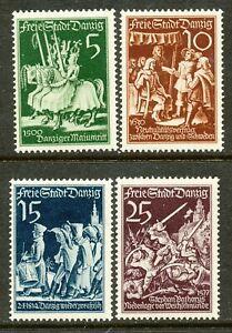 DANZIG -1939 SC # 234-37 FI # 300-303,-MLH( 2 )