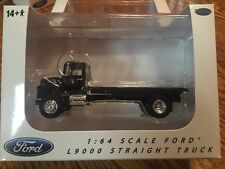 Ford L9000 Black Flat Bed Truck 1/64 By Top Shelf Replicas