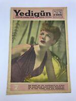 YEDIGUN #26 - Turkish Magazine - 1950s - ANNE GWYNNE COVER - Rita Hayworth