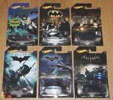 Hot Wheels 2014 Batman 6 Car Set-TV Batimóvil/Bat-Pod/El Bat/Arkham Knight